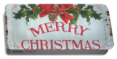 Folk Merry Christmas Portable Battery Charger