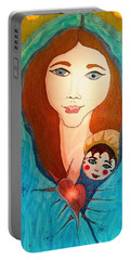 Folk Mother And Child Portable Battery Charger
