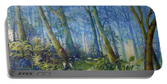 Follow Me Oil Painting Of A Magic Forest Portable Battery Charger