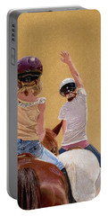 Follow The Leader - Horseback Riding Lesson Painting Portable Battery Charger