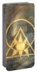 Follow The Light - Illuminati And Binary Portable Battery Charger