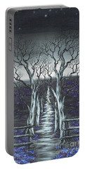 Portable Battery Charger featuring the painting Follow The Stars by Kenneth Clarke