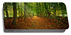 Follow The Yellow Leaf Road Portable Battery Charger