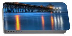 Folly Beach Pier At Blue Hour Charleston South Carolina Portable Battery Charger