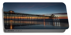 Folly Beach Pier Before Sunrise Portable Battery Charger