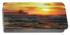 Folly Beach Pier Sunrise Portable Battery Charger