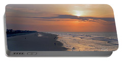 Folly Beach Sunrise Portable Battery Charger by Meta Gatschenberger