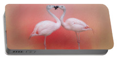 Fond Flamingos Portable Battery Charger
