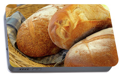 Portable Battery Charger featuring the photograph Food - Bread - Just Loafing Around by Mike Savad