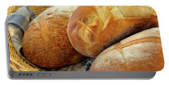 Food - Bread - Just Loafing Around Portable Battery Charger by Mike Savad