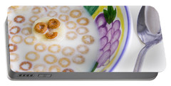 Portable Battery Charger featuring the photograph Food, Breakfast Cereal Smile by Betty Denise