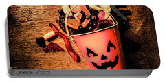 Food For The Little Halloween Spooks Portable Battery Charger