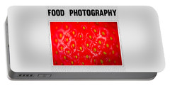 Food Photography Collection Portable Battery Charger by Modern Art Prints