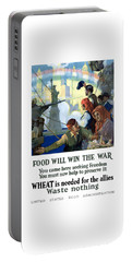 Food Will Win The War Portable Battery Charger