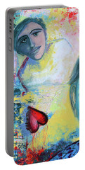 Foolish Love Portable Battery Charger by Donna Blackhall