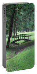 Foot Bridge In The Park Portable Battery Charger by J R Seymour