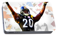 Portable Battery Charger featuring the painting Football 113 by Movie Poster Prints