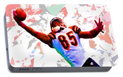 Portable Battery Charger featuring the painting Football 114 by Movie Poster Prints