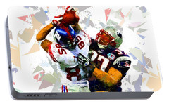 Portable Battery Charger featuring the painting Football 116 by Movie Poster Prints