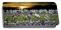 Football Field-notre Dame-navy Portable Battery Charger