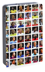 Football Legends Portable Battery Charger by Semih Yurdabak