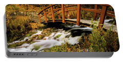 Footbridge At Cascade Springs Portable Battery Charger