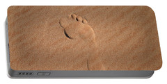 Footprint In The Sand Portable Battery Charger