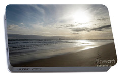 Portable Battery Charger featuring the photograph Footprints In The Sand by Linda Lees