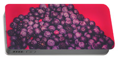 For The Love Of Berries Portable Battery Charger by Stefanie Silva