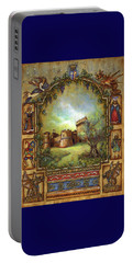 Portable Battery Charger featuring the painting For The Love Of Castles by Retta Stephenson