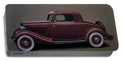 Ford 3 Window Coupe 1933 Painting Portable Battery Charger