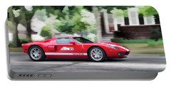 Portable Battery Charger featuring the photograph Ford Gt Entering Lake Mills by Joel Witmeyer