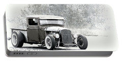 Ford Hot Rod Portable Battery Charger by Athena Mckinzie