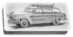 Ford Wagon Sketch Portable Battery Charger