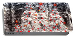 Forest Christmas Portable Battery Charger by Kathy Bassett