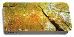 Forest Fall Yellow  Portable Battery Charger by Lyle Crump