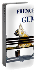 Forest Gump French Bulldog Caricature Art Print Portable Battery Charger