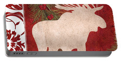Forest Holiday Christmas Moose Portable Battery Charger