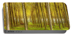 Forest In Autumn Portable Battery Charger