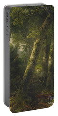Forest In The Morning Light Portable Battery Charger