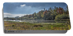 Forest Lake In Autumn Portable Battery Charger