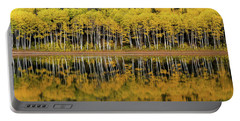 Portable Battery Charger featuring the photograph Forest Lake Reflection by Dustin LeFevre