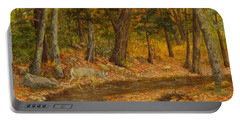 Forest Life Portable Battery Charger by Roena King