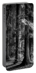 Forest Monochrome Portable Battery Charger by Mark Alder