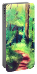 Forest Path Portable Battery Charger by Denise Tomasura