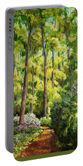 Forest Pathway Portable Battery Charger by Alexandra Maria Ethlyn Cheshire