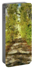 Forest Road Portable Battery Charger by Dragica Micki Fortuna