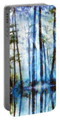 Forest Sentries In The Mist Portable Battery Charger