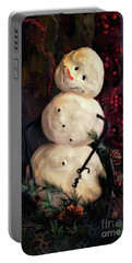 Forest Snowman Portable Battery Charger