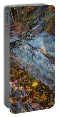 Forest Tidal Pool In Granite, Harpswell, Maine  -100436-100438 Portable Battery Charger